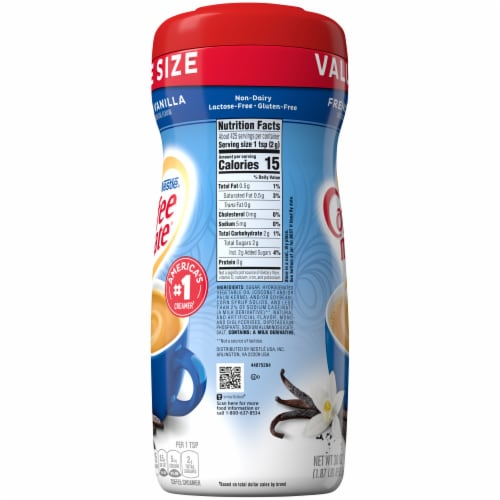 Coffee-mate French Vanilla Powder Coffee Creamer Value Size Perspective: right