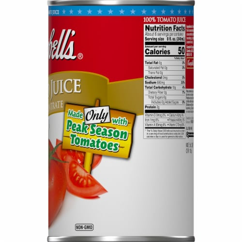 Campbell's Tomato Juice From Concentrate Perspective: right