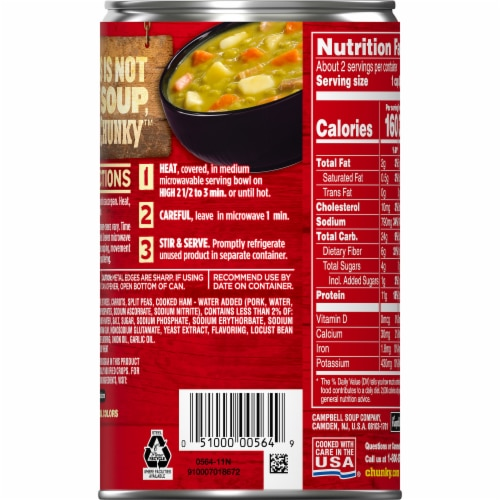Campbell's Chunky Split Pea & Ham Soup Perspective: right