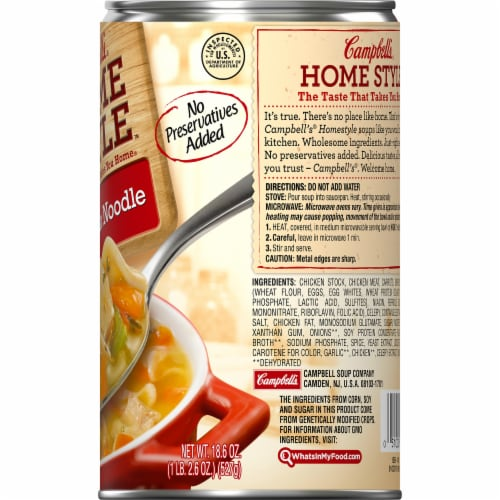 Campbell's Home Style Chicken Noodle Soup Perspective: right