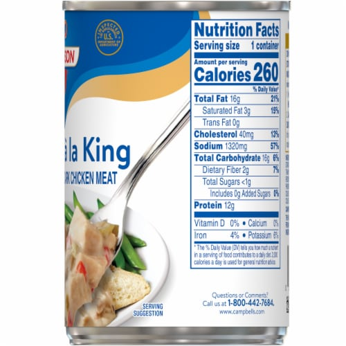 Swanson Chicken a La King Perspective: right