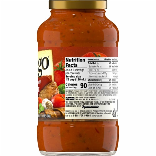 Prego Gluten Free Italian Tomato Sauce Flavored with Meat Perspective: right
