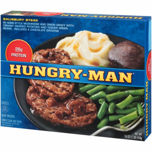 Hungry-Man Salisbury Steak Frozen Meal Perspective: right