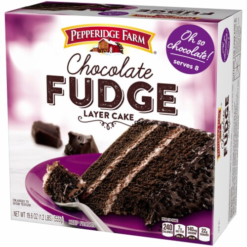 Pepperidge Farm Chocolate Fudge Layer Cake Perspective: right