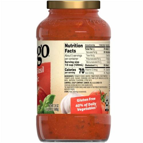 Prego Tomato Basil Garlic Italian Pasta Sauce Perspective: right