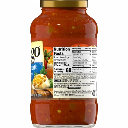 Prego Roasted Garlic & Herb Italian Pasta Sauce Perspective: right