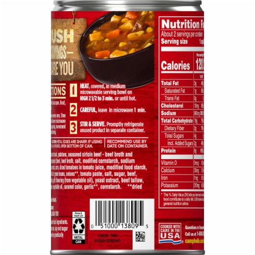 Campbell's Chunky Grilled Sirloin Steak with Hearty Vegetables Soup Perspective: right