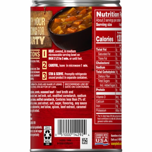 Campbell's® Chunky® Savory Pot Roast Soup Perspective: right