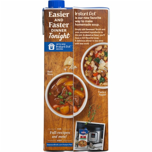 Swanson Low Sodium Beef Broth Perspective: right