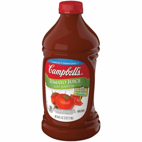 Campbell's Low Sodium Tomato Juice Perspective: right