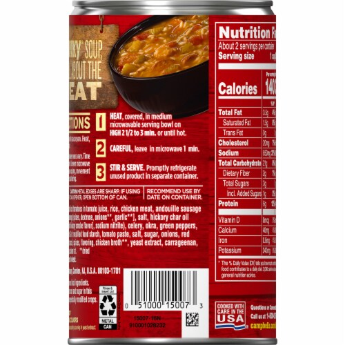 Campbell's Chunky Grilled Chicken & Sausage Gumbo Soup Perspective: right