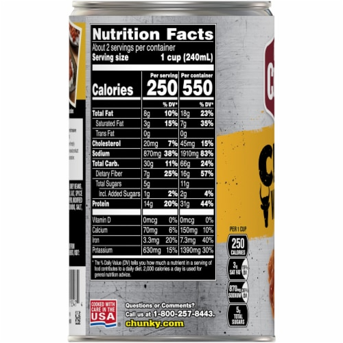 Campbell's Chunky Roadhouse Chili with Beans Perspective: right