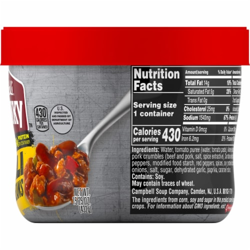 Campbell's Chunky Beef & Bean Roadhouse Chili Perspective: right