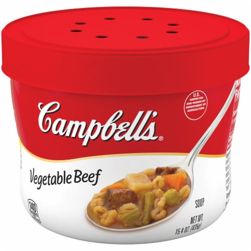 Campbell's Vegetable Beef Microwavable Condensed Soup Perspective: right