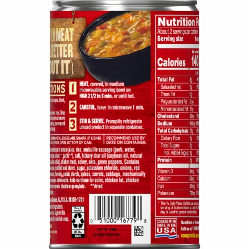 Campbell's Chunky Healthy Request Grilled Chicken & Sausage Gumbo Soup Perspective: right