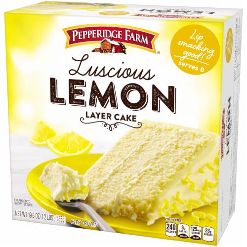 Pepperidge Farm Luscious Lemon Layer Cake Perspective: right