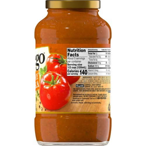 Prego Creamy Vodka Pasta Sauce Perspective: right