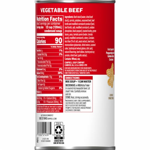 Campbell's® Vegetable Beef Condensed Soup Family Size Perspective: right