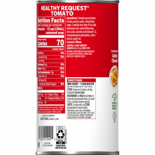 Campbells Family Size Healthy Request Condensed Tomato Soup Perspective: right