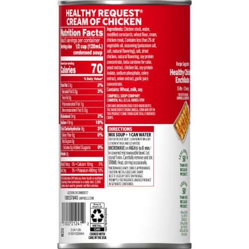 Campbell's® Healthy Request® Condensed Cream of Chicken Soup Perspective: right