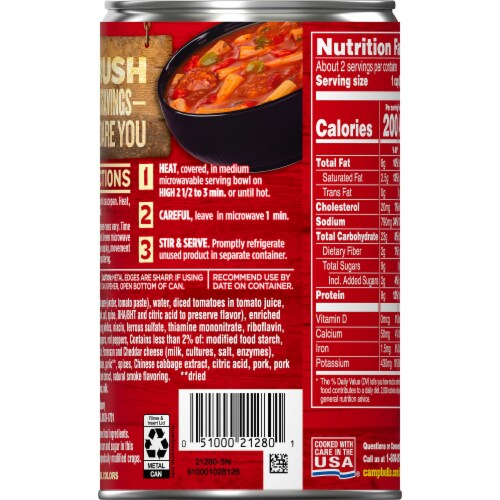 Campbell's Chunky Sausage & Pepper Rigatoni Soup Perspective: right