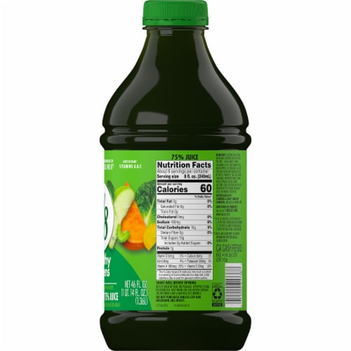 V8 Healthy Greens Juice Beverage Perspective: right