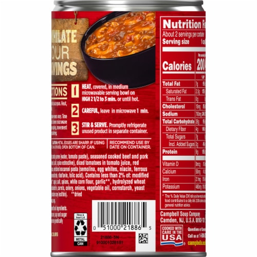 Campbell's Chunky Chili Mac Soup Perspective: right