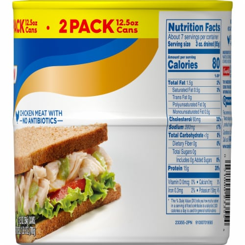 Swanson White Premium Chunk Canned Chicken Breast Perspective: right