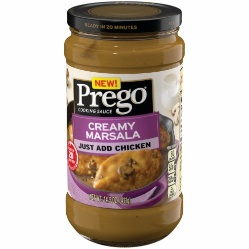 Prego Creamy Marsala Cooking Sauce Perspective: right