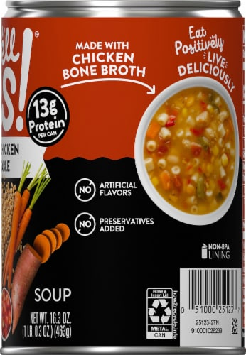 Campbell's Well Yes! Roasted Chicken Vegetable Soup Perspective: right