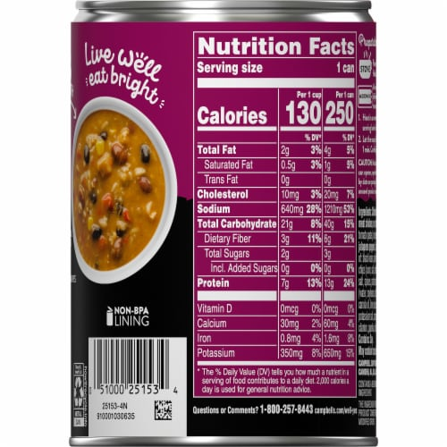 Campbell's Well Yes! Southwest-Style Chicken Tortilla Soup Perspective: right