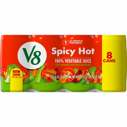 V8 Spicy Hot Vegetable Juice Perspective: right