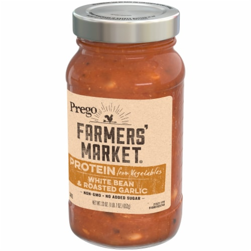 Prego Farmers' Market White Bean & Roasted Garlic Pasta Sauce Perspective: right