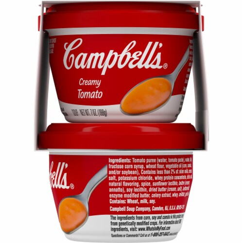 Campbell's Creamy Tomato Soup Perspective: right