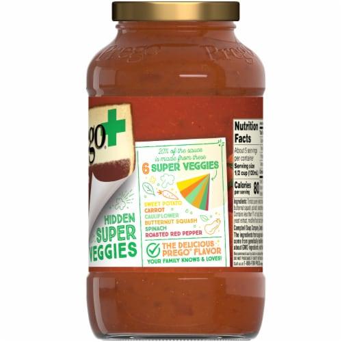 Prego Plus Super Hidden Veggies Meat Flavored Sauce Perspective: right