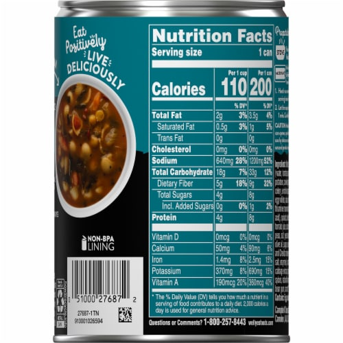 Campbell's Well Yes! Minestrone Soup Perspective: right