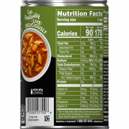 Campbell's Well Yes Garden Vegetable with Pasta Soup Perspective: right