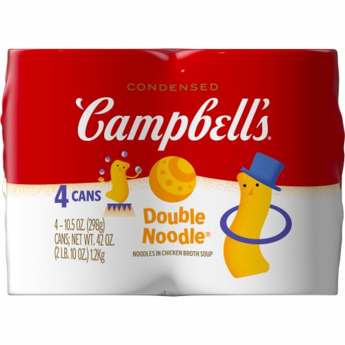 Campbell's Double Noodle Chicken Noodle Soup Perspective: right