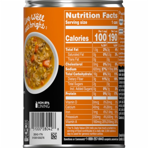 Campbell's® Well Yes!® Plant-Based Chick'n with Rice Soup Perspective: right