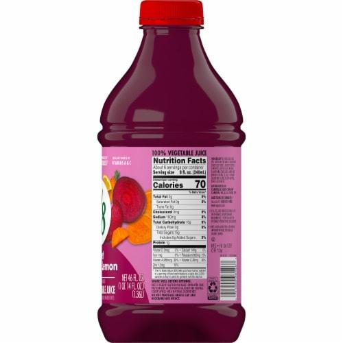 V8 Beet Ginger Lemon Vegetable Juice Perspective: right