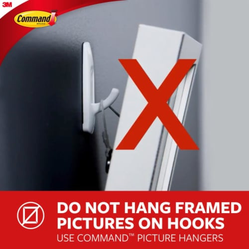 Command™ Outdoor Damage-Free Window Hooks Value Pack Perspective: right