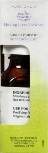 Aura Cacia Tea Tree Essential Oil Perspective: right