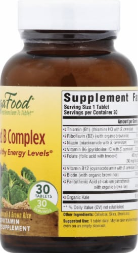 MegaFood Balanced B Complex Tablets Perspective: right