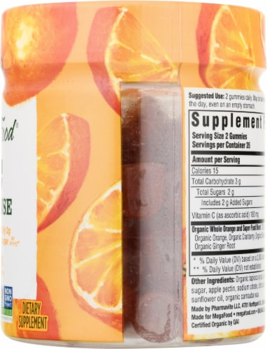 MegaFood C Defense Tangy Citrus Daily Immune Support Gummies Perspective: right