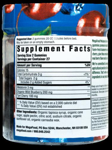 MegaFood Melatonin Berry Good Sleep Dietary Supplement Gummies Perspective: right
