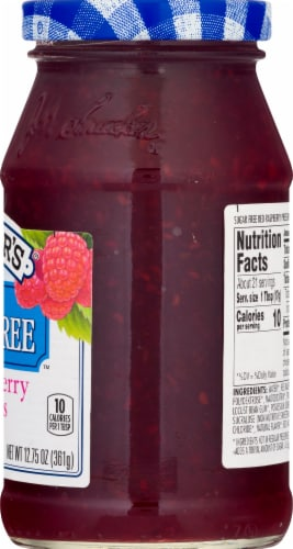 Smucker's Sugar Free Red Raspberry Preserves Perspective: right