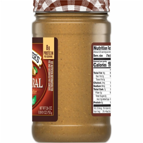 Smucker's Natural Chunky Peanut Butter Perspective: right
