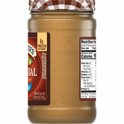 Smucker's Natural Creamy Peanut Butter Perspective: right