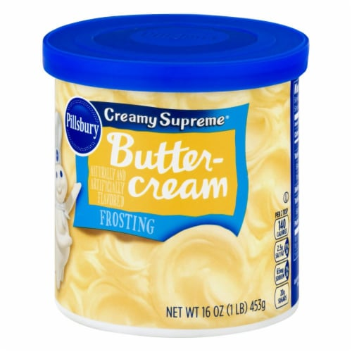 Pillsbury Creamy Supreme Buttercream Frosting Perspective: right
