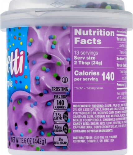 Pillsbury Funfetti Bold Purple Vanilla Frosting Perspective: right